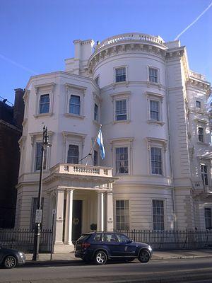 49 Belgrave Square - Image: Argentine ambassador's residence, London
