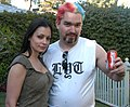 Aria Giovanni, Luke Y. Thompson at Luke Ford's 40th birthday party 3.jpg