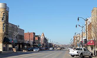 Arkansas City, Kansas - Summit Avenue looking north (2013)
