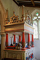 Arkesden Church of St Mary - Richard and Mary Cutte monument from southwest, in Essex, England.jpg