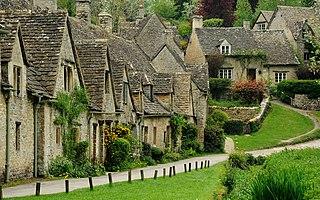 Bibury village and civil parish in Gloucestershire, England