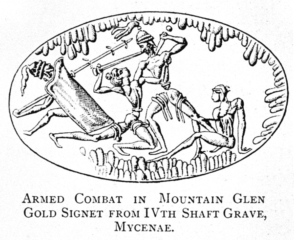 Armed combat in Mountain Glen