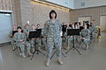 Army Sgt. 1st Class Christina Stevens, center, stands ready to lead members of the 204th Army Band during a ceremony marking the opening of the Marysville Armed Forces Reserve Center in Marysville, Wash., April 120401-A-RB545-038.jpg
