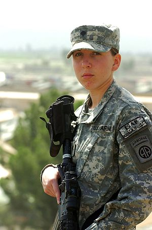 English: Army Spc. Monica Brown, a medic from ...