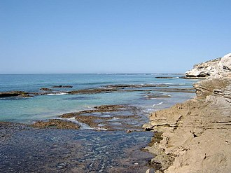 Arniston (East Indiaman) - Coastline at Arniston. The seaside village of Waenhuiskrans, Western Cape has become so associated with the wreck that it is known as Arniston.