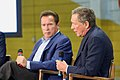 Arnold Schwarzenegger and John Kasich at the first New Way California event in Los Angeles (27088736438).jpg