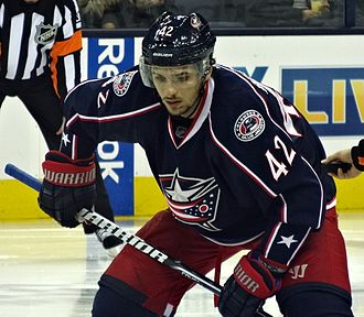 Artem Anisimov - Anisimov during his time with the Columbus Blue Jackets