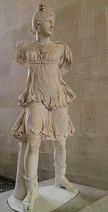 Statua di Artemide, copia romana di originale ellenistico, Museo del Louvre