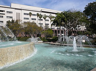 Kenneth Hahn Hall of Administration - Image: Arthur J. Will Memorial Fountain