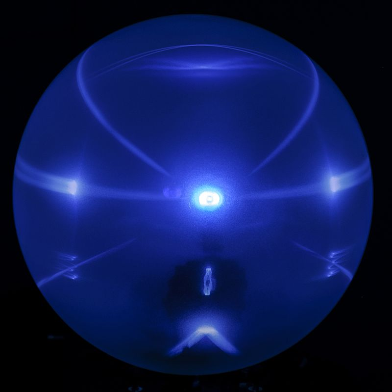 Artificial Halo projected on a spherical screen.jpg