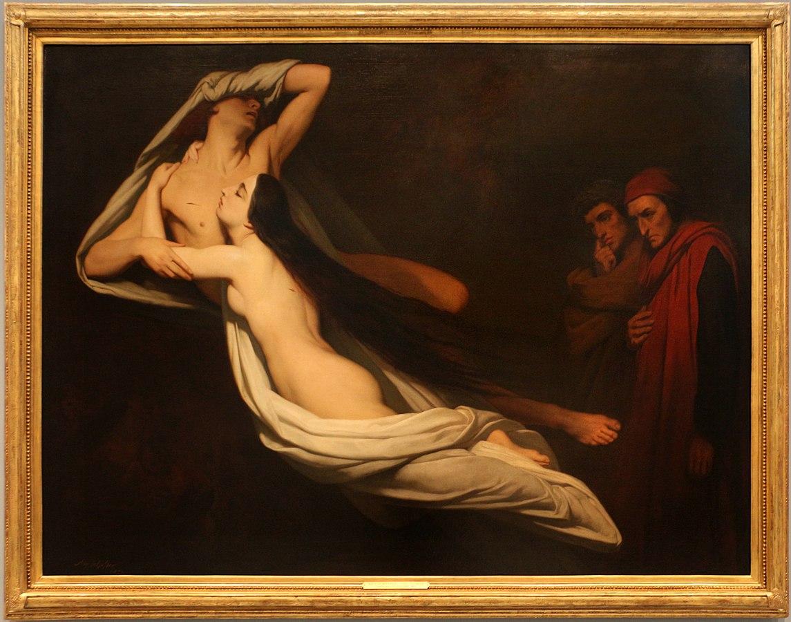 Dante and Virgil Encountering the Shades of Francesca da Rimini and Paolo Malatesta in the Underworld