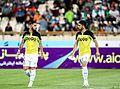 Ashkan Dejagah vs. Alireza Jahanbakhsh - Iran Kyrgyztsan friendly 2016-06-07.jpg
