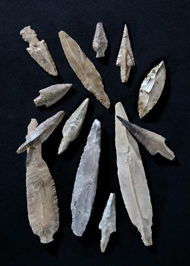 Ashkelon Pre-Pottery Neolithic C flint arrowheads