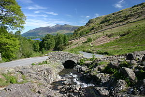English: Ashness Bridge, Borrowdale, English L...