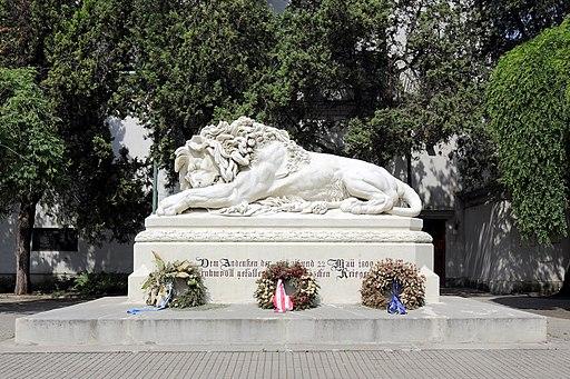 Aspern (Wien) - Löwe (Kriegerdenkmal)