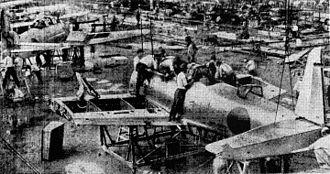 Nakajima Aircraft Company - Assembly work at Nakajima-Handa