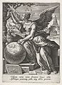 Astronomia, Johann Sadeler (I), after Maerten de Vos, Cornelis Cort, and Frans Floris (I), 1560 - 1600, engraving, 15.0 by 10.6 cm.jpg
