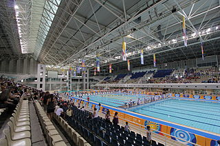 Athens Olympic Aquatic Centre complex at the Athens Olympic Sports Complex