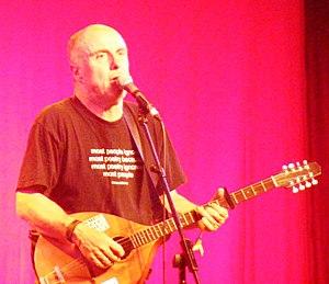 Attila the Stockbroker - Attila the Stockbroker performing in the Cabaret Tent at the 2010 Glastonbury Festival