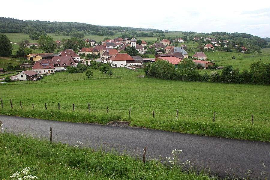 Vue d'Aubonne (Doubs).