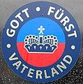 Aufkleber Gott - Fürst - Vaterland, Fürstentum Liechtenstein.jpg