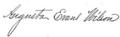 Augusta Evans Wilson signature.png