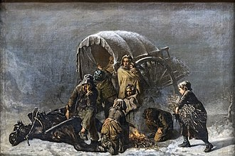 Alexandre Antigna - Image: Augustins La halte forcée Alexandre ANTIGNA Ro 1