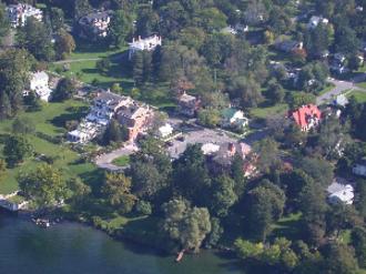 Aurora, Cayuga County, New York - Aerial view of Aurora