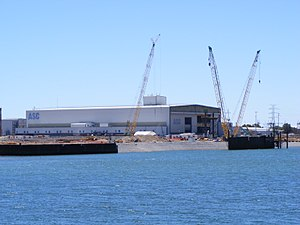 Collins-class submarine - The Australian Submarine Corporation construction facility, where the six submarines were assembled