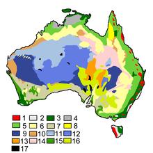 carte de la végétation australienne