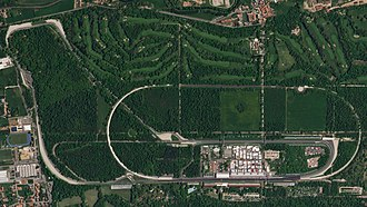 Autodromo Nazionale Monza - Satellite photograph of the circuit from 2018