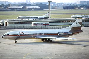 Aviaco Flight 118 - Sister-ship to the accident aircraft, seen at le Bourget airport in August 1974