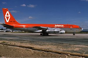 Avianca - Avianca Boeing 720 at El Dorado International Airport (1972).