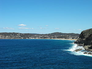 Avoca Beach, as seen from the Skillion