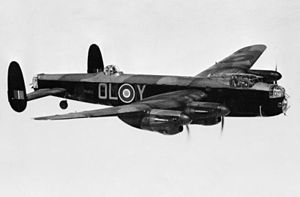 No. 83 Squadron RAF - An 83 Sqn Lancaster B.I, in 1942.