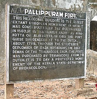 Pallipuram Fort - Image: Ayakotta information board