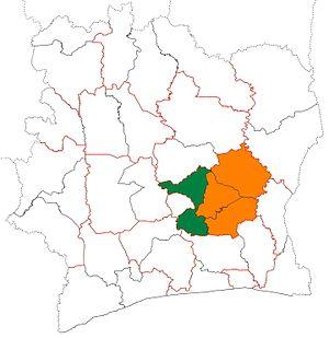 Bélier Region - Image: Bélier region locator map Côte d'Ivoire