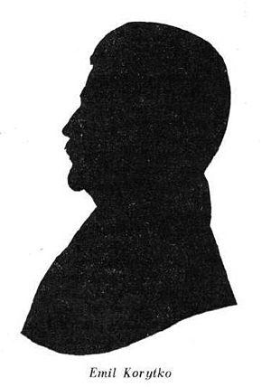 Emil Korytko - Emil Korytko's silhouette from the 19th century