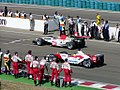 BARs starting warm up lap at the 2003 Hungarian Grand Prix.jpg
