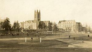 Alumni Stadium - Alumni Field, precursor to Alumni Stadium, ca. 1920