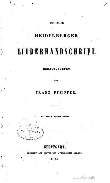 File:BLV 009-3 Die alte Heidelberger Liederhandschrift.pdf