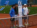 BMW Open exhibition match Haas and Spengler vs Kohlschreiber and Glock 3.JPG