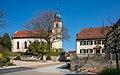 Bad Rappenau - Bonfeld - Evangelische Kirche und altes Pfarrhaus von Süden.jpg