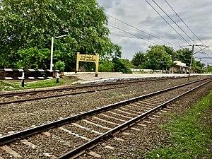 Badampudi railway station board.jpg