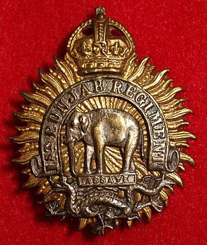 Pran Nath Thapar - Image: Badge of 1st Punjab Regiment 1945 56