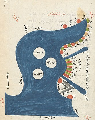 Geography and cartography in medieval Islam - Image: Bahre Fars (cropped)