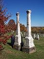 Bair (Catharina and John), Brush Creek Cemetery, 2015-10-26, 01.jpg