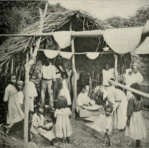 Saint Vincent and the Grenadines - Residents of Saint Vincent making ''casabe'' (casava bread) in the 1910s