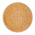 Baksida av medalj med bild av det Sachsiska vapnet omgivet av 21 st mindre vapen - Skoklosters slott - 99308.tif