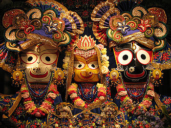 English: Lord Balabhdra, Goddess Subhadra and ...